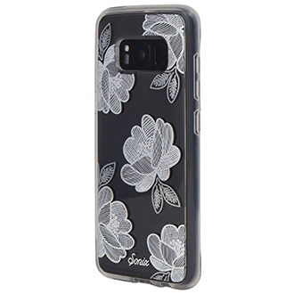 Silver Florette Sonix Clear Case - Samsung Galaxy S8 Case Angled View