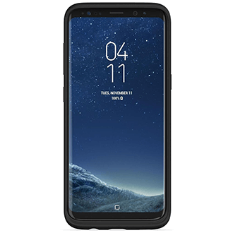 Black Mophie Charge Force Bundle - Samsung Galaxy S8 - Front View