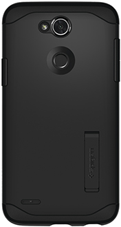 Black Spigen Slim Armor LG X Power 3 Case Back