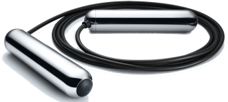 Chrome Tangram Jump Rope Angled Side View