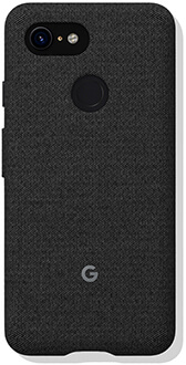 Carbon Google Fabric Pixel 3 Case Back