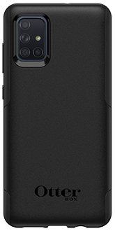 Black OtterBox Galaxy A71 Commuter Lite Case Back