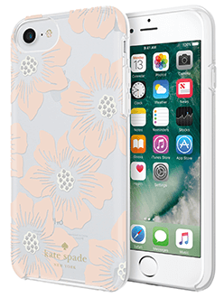 Hollyhock Floral kate spade iPhone 6/6s/7/8 Case Back and Front View