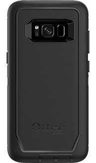 Black Otterbox Galaxy S8 Defender Case Back View