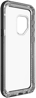 Black Crystal LifeProof NËXT Galaxy S9 Case Angled Back View