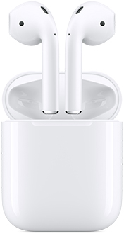Gen 2 AirPods floating above Charging Case