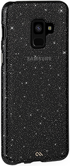 Angled Black Case-Mate Sheer Glam Naked Tough Galaxy A8 Case