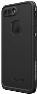 Black/Dark Grey LifeProof FRĒ iPhone 7 Plus Case Angled Back View