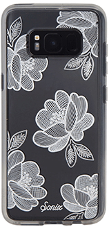 Silver Florette Sonix Clear Case - Samsung Galaxy S8 Case Back View