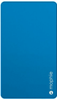Blue Mophie Powerstation Mini (3,000mAh) - Front View