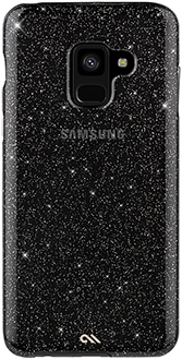 Black Case-Mate Sheer Glam Naked Tough Galaxy A8 Case Back