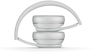 Folded Satin Silver Solo3 Headphones