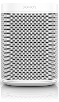 White Sonos One Smart Speaker Front View