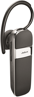 Black Jabra Talk Bluetooth Headset Angled Front View