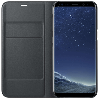 Black Samsung LED  View Cover - Galaxy S8+ Case