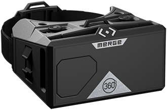 Moon Grey Merge VR 360 Goggles Front View