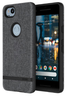Gray Incipio Esquire Series - Google Pixel 2 Case Angled View