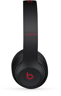Defiant Black-Red Beats Studio3 Headphones Side