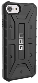 Black UAG Pathfinder - iPhone 6/6s/7/8 Case Angled View