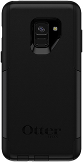 Black OtterBox Galaxy A8 Commuter Case Back