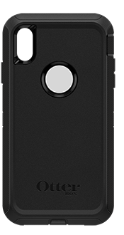 Black OtterBox iPhone Xs Max Defender Case Back