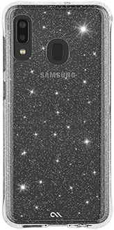 Glitter Case-Mate Sheer Crystal Galaxy A20 Case Back