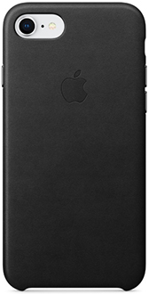 Black Apple Leather iPhone 7/8 Case Back View
