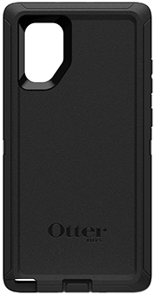 Black OtterBox Galaxy Note10+ Defender Case Back