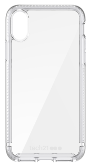 Clear Tech 21 Pure Clear - iPhone X Case Back View