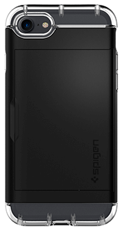 Black Spigen Crystal Hybrid - iPhone 7/8 Case Back View