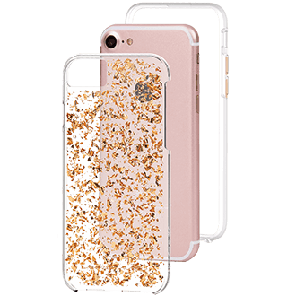 Rose Gold Case-Mate Karat - Apple iPhone 6/6s/7/8 Case Angled View
