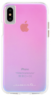 Iridescent Case-Mate Naked Tough - iPhone X Case Back View