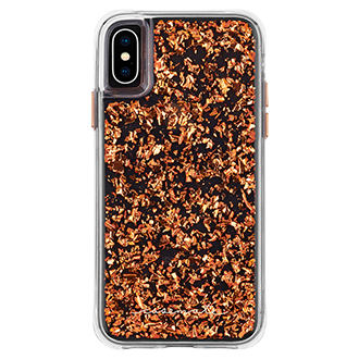 Rose Gold Case-Mate Karat - iPhone X/Xs Case Back View