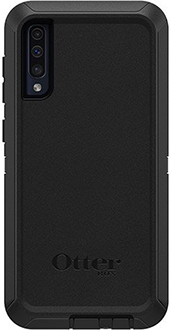 Black OtterBox Galaxy A50 Defender Case Back