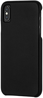 Angled Black Case-Mate Barely There Leather iPhone Xs Max Case