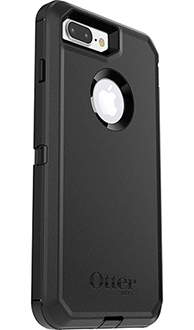 Black Otterbox iPhone 7 Plus Defender Case Angled Back View