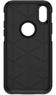 Black Otterbox iPhone X Commuter Case Front View