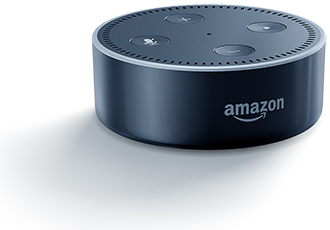 Black Amazon Echo Dot Front View