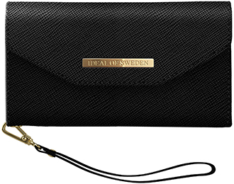 Black iDeal of Sweden Mayfair Clutch iPhone XR Wallet Case Front