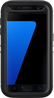 Black OtterBox Galaxy S7 Defender Case Front View