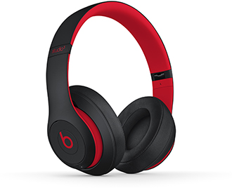 Angled Defiant Black-Red Beats Studio3 Headphones