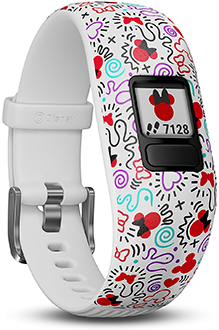 Angled Minnie Mouse Garmin vivofit jr. 2 Activity Tracker