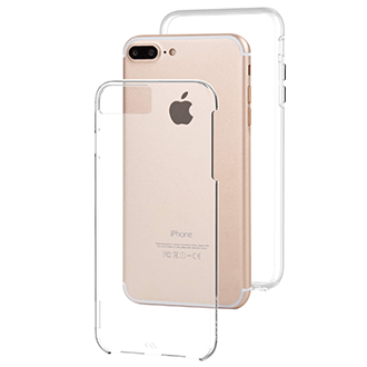 Étui Naked Tough transparent de Case-Mate – Vue inclinée de l'étui pour iPhone 6 Plus/6s Plus/7 Plus/8 Plus d'Apple