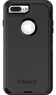 Black Otterbox iPhone 7 Plus Defender Case Back View