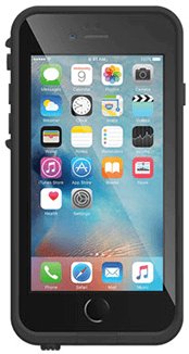 Black LifeProof FRĒ iPhone 6/6S Case Front View