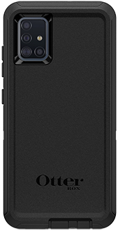 Black OtterBox Galaxy A51 Defender Case Back