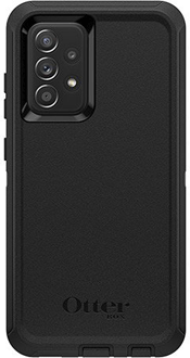 Black OtterBox Galaxy A52 Defender Case from the Back