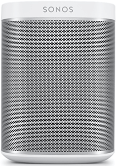 White Sonos PLAY:1 Speaker Front View
