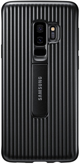 Black Samsung Galaxy S9+ Protective Stand Cover Back