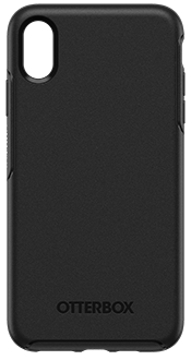 Black OtterBox iPhone Xs Max Symmetry Case Back